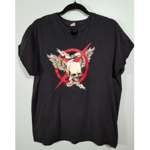 Skull Graphic T  'Zero Competition' Vintage, LG